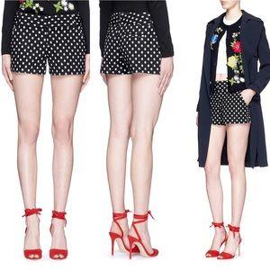 Alice + Olivia 'Cady' Polka Dot Jacquard Shorts